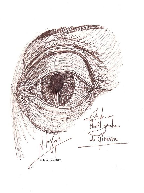 Étude sur l'œil gauche de Ginevra