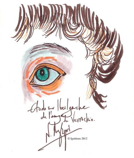Étude sur l'oeil gauche de l'ange de Verrochio
