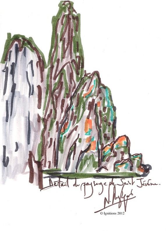 Détail du paysage de Saint Jérôme