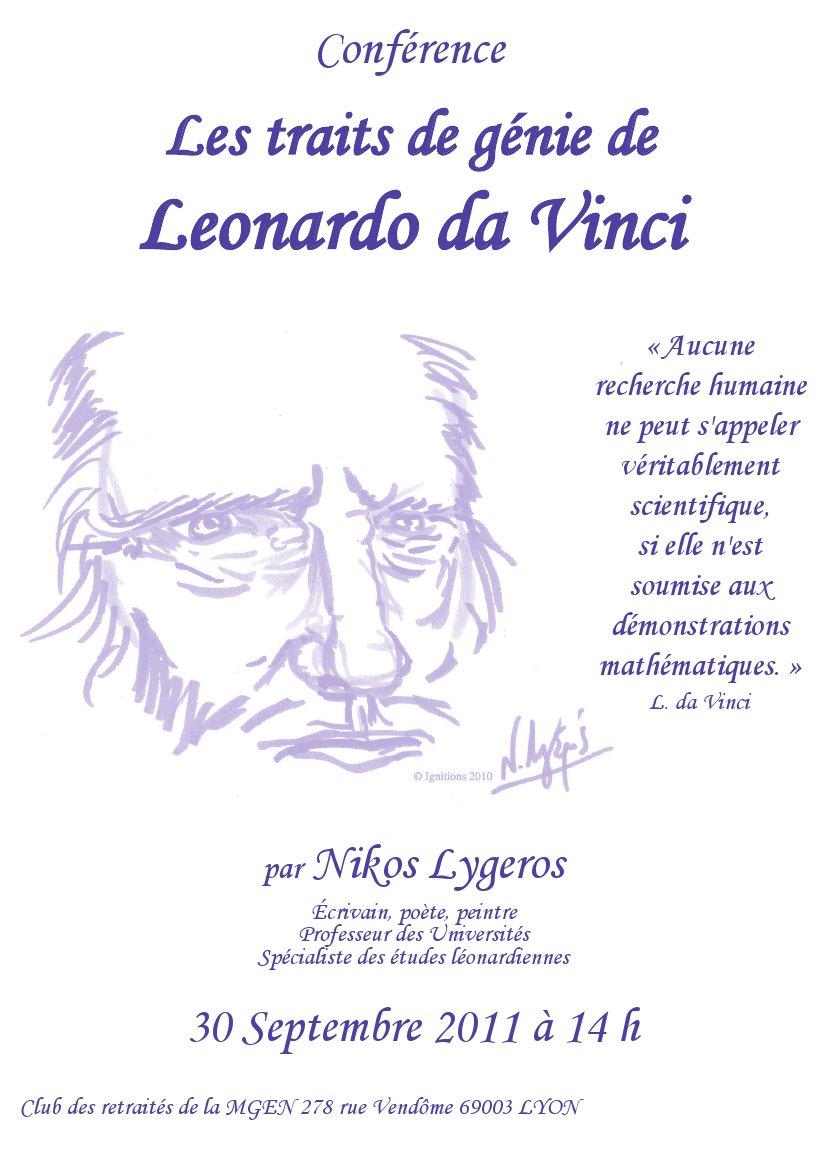 Les traits de génie de Leonardo da Vinci