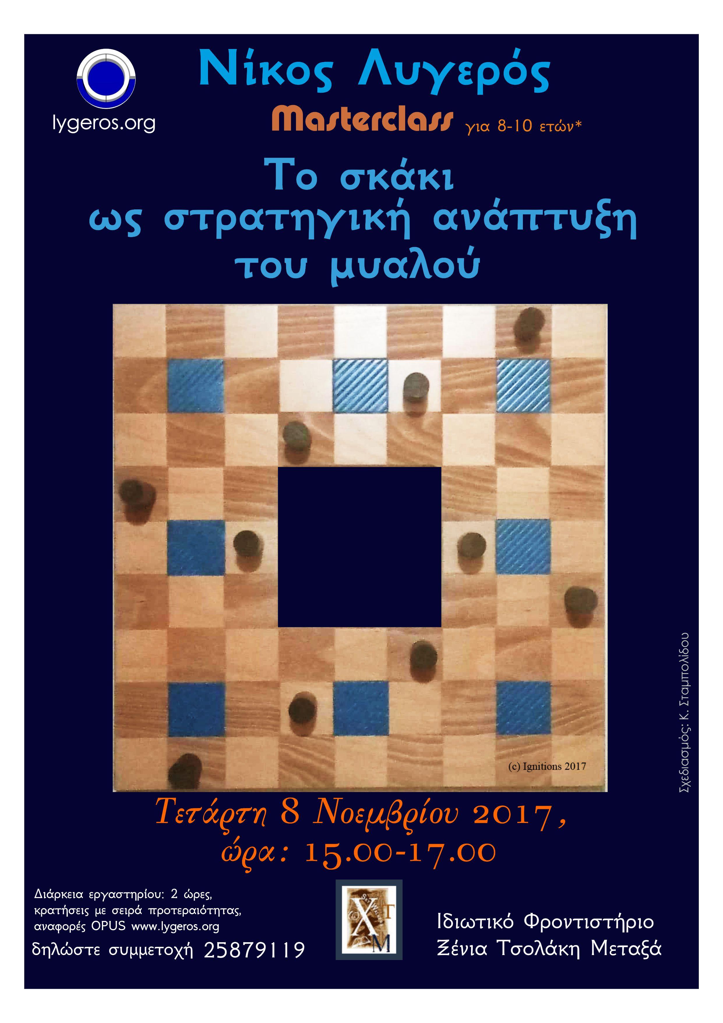 Masterclass: Το σκάκι ως στρατηγική ανάπτυξη του μυαλού