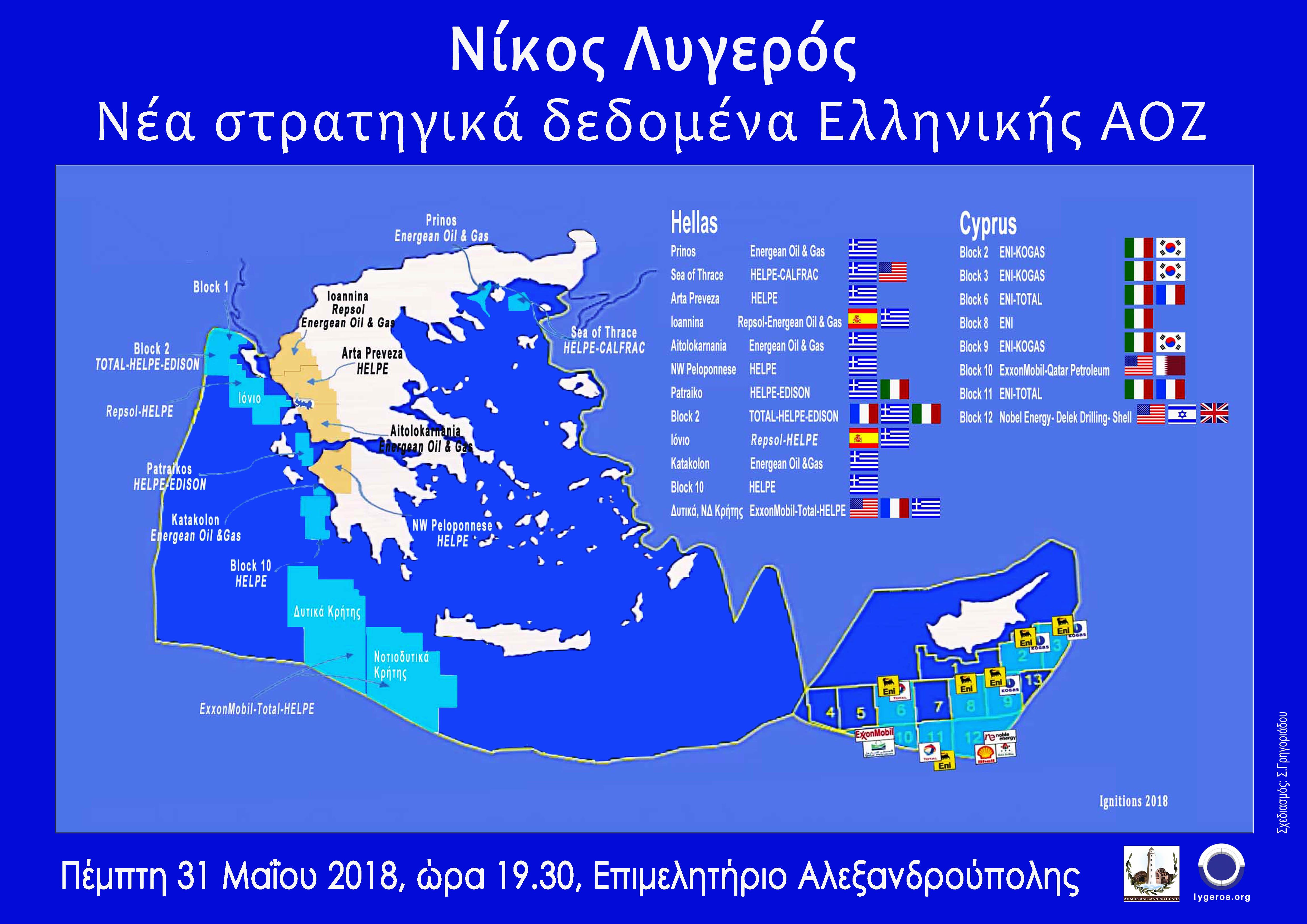 Διάλεξη: Νέα στρατηγικά δεδομένα Ελληνικής ΑΟΖ